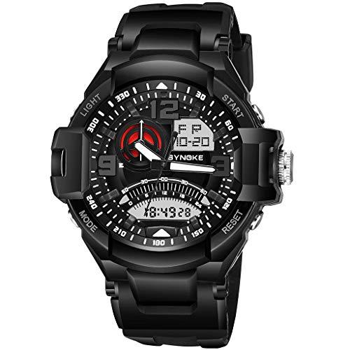 TWISFER Herren Digitale Sportuhren - Outdoor 50 Meter wasserdicht militärische Chronographuhr, Sport Laufen Armbanduhr mit Wecker für Männer -