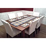 #10: The Intellect Bazaar Set of 7 Piece PVC Table Mats with Table Runner for Dining Table