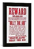 Gerahmtes Bild von American School Reward Poster for Billy the Kid (1859-81)