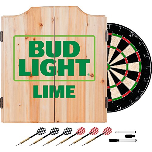Trademark Gameroom Bud Light Lime Holz Dart-Schrank-Set