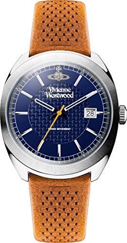 Vivienne Westwood reloj infantil de cuarzo con para hombre esfera azul y correa de piel color marrón VV136BLBR