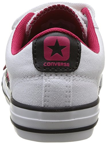 Converse Star Player 3V Ox, Unisex - Kinder Sneaker Weiß - Blanc (Blanc/Framboise)
