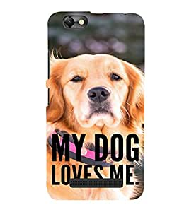 ifasho Designer Back Case Cover for Lenovo Vibe C :: Lenovo A2020 (Kutta Puppy Pooch Bitch)