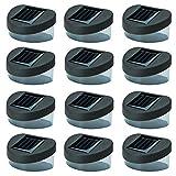 Solalite, solarbetriebene LED-Lichter, für Türen, Zäune, Mauern, Stufen oder den Garten, schwarz