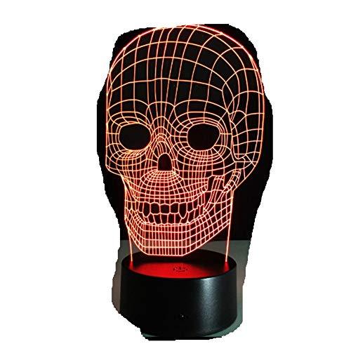 3D Lampe Schädel Lichter/Kinder Nachtlicht/Visuelle Led Nachtlichter/Illusion Stimmung Lampe/Halloween Dekor3D