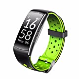 Fitness Tracker Pulsera Inteligente, Wotumeo Activity Tracker Monitor de Pulso Cardiaco Impermeable Bluetooth Wrsitband Podómetro Salud Smartband Compatible con IOS y Android (Negro&Verde)