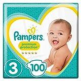 Pampers - New Baby - Windeln Größe 3 (6-10/5-9 kg) - Giant Pack - Set von 2 (100 Schichten)