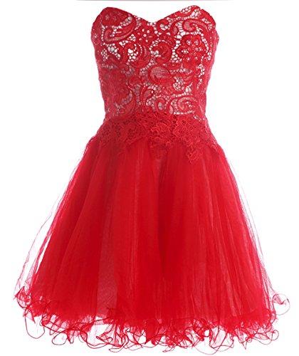 Bridal_Mall - Robe - Sans bretelle - Sans Manche - Femme Rouge - Rouge