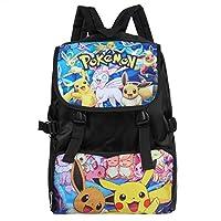Bonamana Cartoon Pokemon Pikachu Backpack Anime School Bag Rucksack for Teens (C)