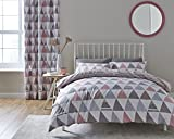 Catherine Lansfield Home Scandi Geo Reversible Duvet Cover Set, Pink, Double
