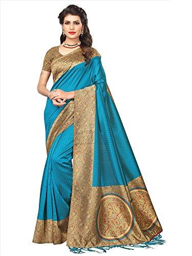 SAREE MALL Womens art silk Saree with blouse (sarees offer below 500...
