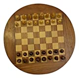 Pearl Handicraft Wooden Chess Board Round| Traditional Chess