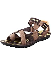 Jabra Men's Brown Fashionably Top Quality Casual Sandals (Speed-01)