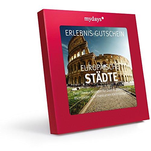 Hotelgutschein – mydays Magic Box: Europäische Städte – 2 Übernachtungen für 2 Personen – Geschenkidee zum Geburtstag