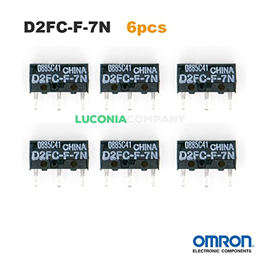 6-pack Omron d2fc-f-7N Authentic Micro Interruttori con microinterruttori interruttori per RAZER Logitech APPLE MS Mouse