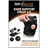 "ionocore Knee Brace Open Patella - Cushioned Support, lateral stabilisers and 3 Straps. Fully Adjustable to 18"" Circumference."