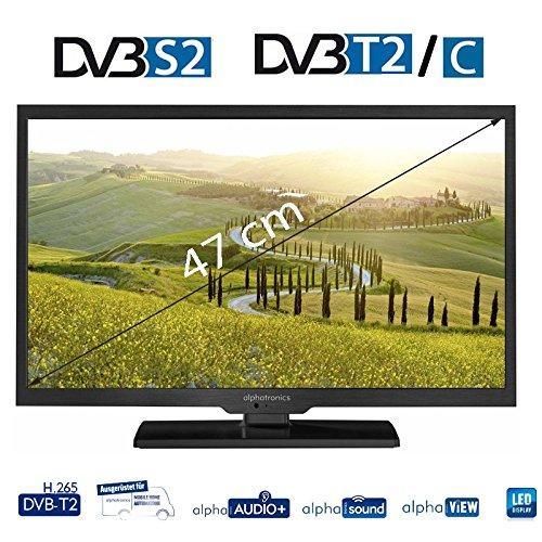 Image of alphatronics SL-19 DSB+ mit Triple Tuner (DVB-S2, DVB-T2 HD (H.265) und DVB-C Tuner, DVD Player für 12/230V