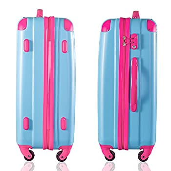 "Travelhouse Executive Business Bag Luggage Travel Flight Case Suitcase New (28"", Blue & Rose) 7"