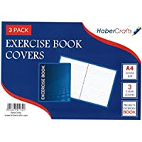 A4 Clear Exercise Book Covers (30cm x 21cm) Strong Plastic Protecting Sleeves School Notebook (6 Pack)