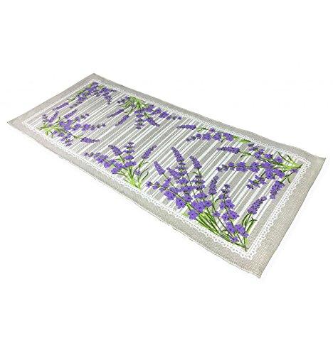 Küchenteppich rutschfest Provence Sweet Lavendel–cm. 50x 80