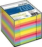 Zettelbox-transparent 10x10x10cm 700Bl Milan farbiges Papier Milan 277 Folia 9910-0 Polo 4310
