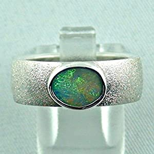 Sterling Silberring mit Top Black Crystal Opal 0,87 ct