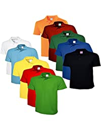 Lime's Multi Color Polo Neck T Shirts For Men ( Pack Of 10 )