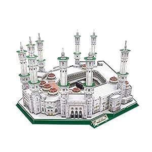 3D Puzzle Masjid Al-Haram Cubic Fun Grande Mosquée de la Mecque l'Islam Grand Mosque