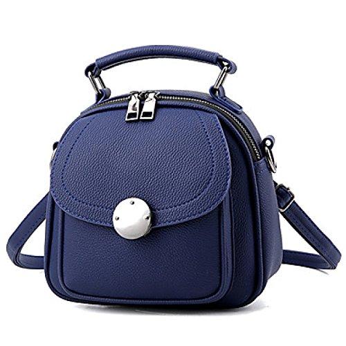 DFUCF Damen PU Mode Lässig Büro Beruf Umhängetasche Schiefer Tasche Handtasche Aktenkoffer Langlebig Aquamarine