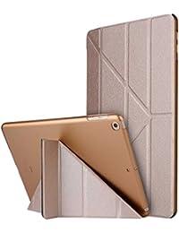 """Thrion Ultra Slim Función de Soporte Protectora Plegable Smart Cover [Auto-Desbloquear] [Botones Protegidos] Funda para Apple iPad Pro 9.7"""" - Oro (Auto Sueño/Estela)"""