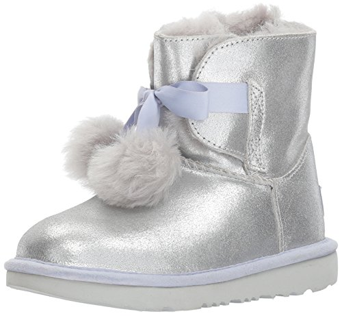 allic Pull-On Boot, Silver, 1 M US Little Kid ()