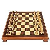 Schachspiel Magnetisch Meisterschaftsschachspiel, 2-in-1-Schachspiel und Drafts-Set Schachbrett für Erwachsene und Kinder Schach (Color : C)