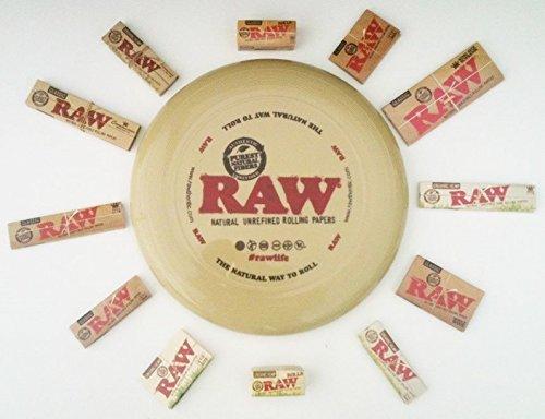 Raw Flying Disk Frisbee Kunststoff Rolling Tablett Deal Geschenk-Set mit Raw Papier und 3D Lesezeichen für Sie oder Ihre Lieben von Trendz