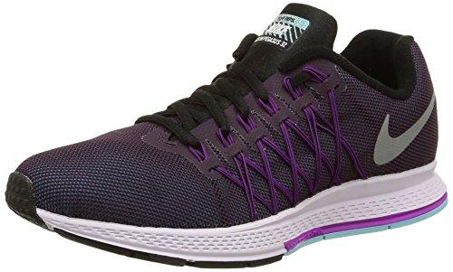 Nike Wmns Air Zoom Pegasus 32 Flash, Calzado Deportivo para Mujer, NBL Purple/Rflct Slvr-Vvd Prpl, 38.5 EU