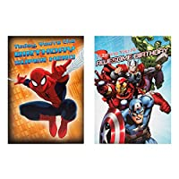 Hallmark 25462385 15.2 cm X 0.2 cm X 10.8 cm Marvel Cards, Pack of Eight