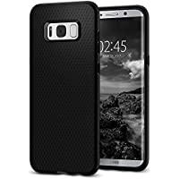 Samsung Galaxy S8 Case, Spigen® [Liquid Air Armor] Galaxy S8 Case Gel Silicone Cover Droid Pattern with Durable Flex and Easy Grip Design for Galaxy S8 (2017) - Black- 565CS21611