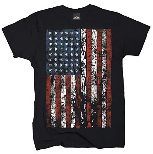 T-Shirt USA Flag Distress Gr.4XL -
