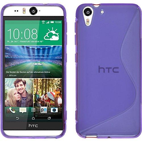 PhoneNatic Case für HTC Desire Eye Hülle Silikon lila, S-Style + 2 Schutzfolien