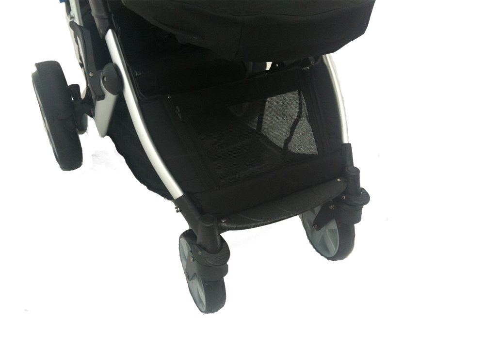 DUELLETTE 21 BS Twin Double Pushchair Tandem Stroller buggy 2 seat units, compatible with Kids Kargo safety Pod Car seat OR maxi cosi clips or Britax Baby safety Car seat. (sold separately) 2 Free Teal footmuffs 2 Free rain covers Black /Teal Silver chassis Ideal for Twins or Baby Toddler by Kids Kargo Kids Kargo Demo video please see link http://youtu.be/Ngj0yD3TMSM Various seat positions. Both seats can face mum (ideal for twins) Suitability Twins (Newborn Twins if used with car seats). Accommodates 1 or 2 car seats 6