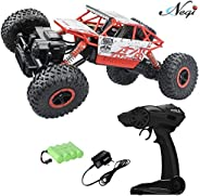 Negi 1:18 Rechargeable Rock Crawling 4WD 2.4 Ghz 4x4 Rally Car Remote Control Monster Truck Kids Play Toys (Re
