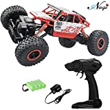 Negi 1:18 Rechargeable Rock Crawler 4WD 2.4 Ghz 4x4 Rally Car RC Monster Truck Kids Play Toys (Red)