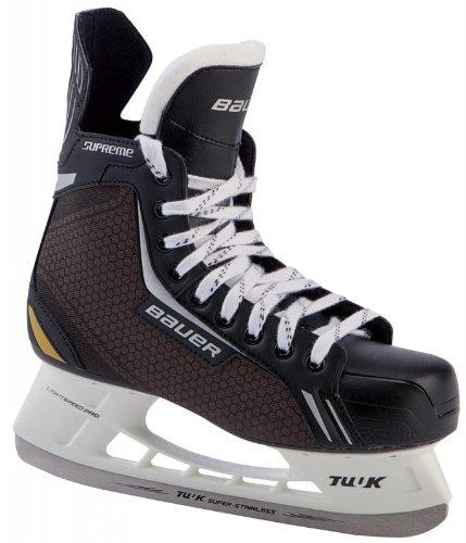 Bauer Eishockey Schlittschuhe Supreme Elite Senior SMU (Schlittschuh Größe : 12 - 48,0 EU Größe)