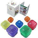 Romote 7Stück Teil Kontrolle Behälter Set–portioskontrolle Container für Gewicht Loss–Teil Control Kit für Diet Meal Vorbereitung–einfach farblich abgestimmt no-measuring System für gesundes Wohnen