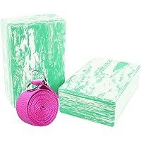Yoga Block und Yoga Gurt Yogagurt mit Metall D-Ring Yoga Brick Kork Yoga Block 2Stück pro Set–hochdichtem EVA-Schaum Yoga Block zu unterstützen und Vertiefen Posen, leicht, geruchsabweisender und Feuchtraum, grün preisvergleich bei fajdalomcsillapitas.eu