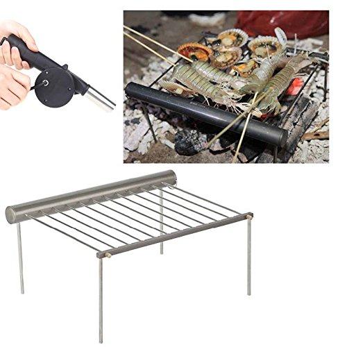 EverTrust (TM) UK Alocs Campeggio portatile griglia in alluminio per esterno Picnic Barbecue cf-pg01