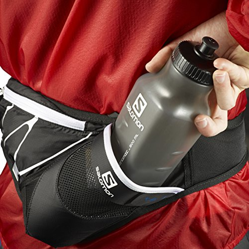 Salomon, Trinkgürtel, Unisex, Inkl. 600 ml 3D-Flasche, SENSIBELT Black