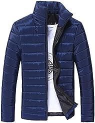 abrigos hombre parka invierno largos Sannysis chaquetas con cremalleras collar soporte cardigans hombre moto deportivas elegantes de paño baratos gruesa burbuja abrigo