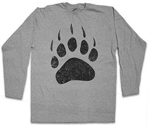 Bear Paw Langarm Long Sleeve T-Shirt - Größen S – 2XL (Redneck Shirts Hunting)
