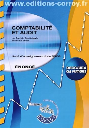 Comptabilité et audit UE 4 du DSCG : Enoncé