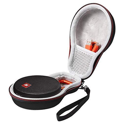 Kcorode Tasche für JBL Clip 2 / JBL Clip 3 Bluetooth Lautsprecher, Eva Hülle Case Reisetasche mit Reißverschluss Schwarz